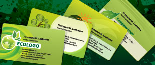 Free Illustrator Templates: Green Eco-friendly Business Cards and Letterheads