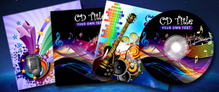 Free Exclusive Vector: CD Design Presentation Templates
